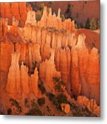 Hoodoos At Sunrise Bryce Canyon National Park Utah Metal Print
