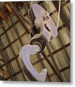 Hook And Pulley Metal Print