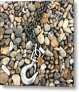 Hook, Chain And Pebbles Metal Print