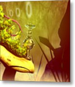 Hookah Smoking Caterpillar Metal Print