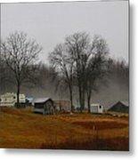 Hooker Road In The Fog 1 Metal Print