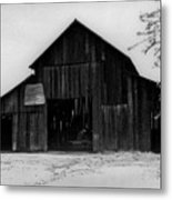 Hoops At The Barn Metal Print