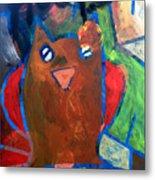 Hoots The Fall Owl Metal Print