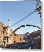 Hoover Dam Bypass Highway Under Construction Metal Print