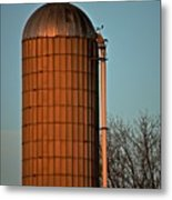 Hoover Pumps Atop Silo Metal Print
