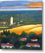 Hoover Tower From Hills Metal Print
