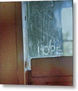 Hope In Prison Door Metal Print