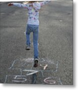 Hopscotch Queen Metal Print