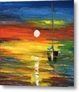 Horizon Sail Metal Print by Ash Hussein