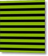 Horizontal Black Inside Stripes 09-p0169 Metal Print
