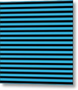 Horizontal Black Inside Stripes 18-p0169 Metal Print