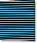 Horizontal Black Outside Stripes 18-p0169 Metal Print