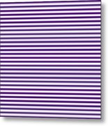 Horizontal White Outside Stripes 30-p0169 Metal Print