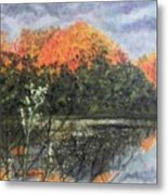 Horn Pond In Autumn Metal Print