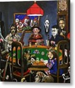 Horror Card Game Metal Print by Tom Carlton