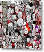 Horror Icons Metal Print