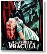 Horror Of Dracula Aka Le Cauchemar De Metal Print by Everett