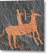 Horse And Arrow Metal Print