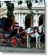 Horse And Buggy In Havana Metal Print