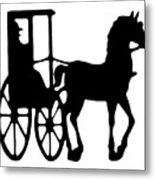 Horse And Buggy Vector Metal Print