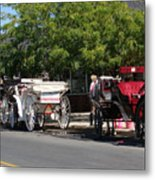 Horse And Carriage Ride Metal Print