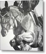 Horse and Jockey Metal Print