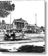 Horse And Parliament Metal Print