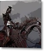 Horse And Rider Metal Print