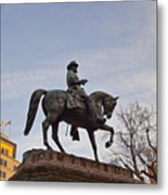 Horse And Rider Monument Metal Print