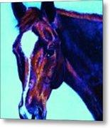 Horse Art Horse Portrait Maduro Striking Purple Metal Print