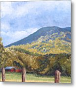 Horse Barn At Cades Cove Metal Print