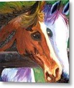 Horse Bff Metal Print