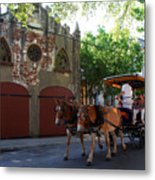 Horse Carriage At Kings Street Metal Print