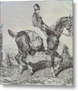 Horse Carriage Metal Print