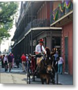 Horse Carriage Ride Metal Print