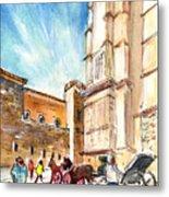 Horse Carriages In Palma De Mallorca Metal Print