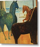 Horse Collection Metal Print