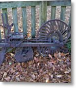 Horse Drawn Corn Planter Metal Print