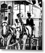 Horse Drawn Funeral Carriage Metal Print