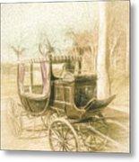 Horse Drawn Funeral Cart  Metal Print