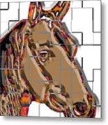 Horse Faces Of Life 4 Metal Print