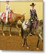 Horse Girls Metal Print