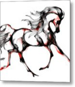 Horse In Extended Trot Metal Print