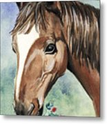 Horse In Love Metal Print
