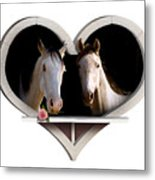 Horse Lovers Metal Print
