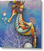 Horse Of A Different Color Metal Print by Tracey Levine
