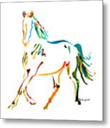 Horse Of Many Colors - 2 Metal Print