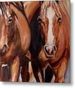 Horse Oil Painting Metal Print