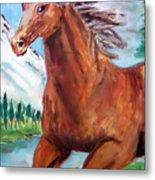 Horse Painting Metal Print