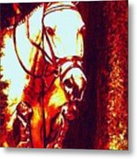 Horse Painting Jumper No Faults Deep Blues And Reds Metal Print